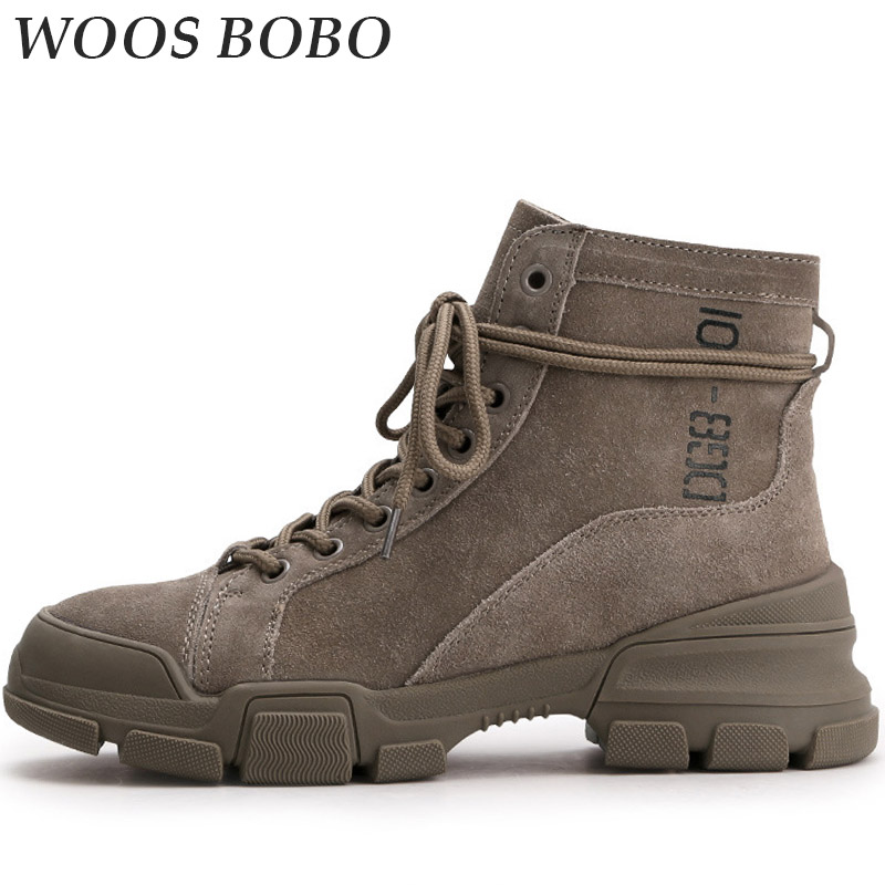 BOBO Autumn Ankle Boots For Women Elegant Casual Fashion Tooling shoes Winter Platform Martin Womens Boots Round Toe Woman Brand