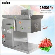 XEOLEO Коммерческая мясо электрический резак для резки мяса из нержавеющей стали Измельчитель meat3/2,5/4/5/6/7/8 мм толщина 250 кг/ч 110/220V 550W