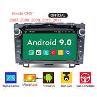Android 9.0 car navi GPS dvd player for Honda CRV 2007 2011 capacitive screen 1024 * 600 + wifi + BT + SWC + RDS + Android 9.0