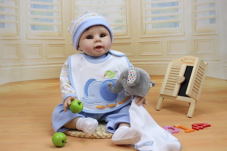 22 Inches 55cm silicone reborn baby dolls realistic hobbies handmade brinquedos newborn doll for child Christmas gift
