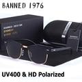 Das mulheres dos homens UV400 Polarizada HD óculos de Sol Clássico da moda retro clube Marca Unidade De Revestimento óculos de Sol Shades gafas de Sol Masculino