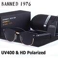 UV400 HD Поляризованные Солнечные Очки женщин людей Классические мода ретро клуб Марка Солнцезащитные очки Покрытие Drive Оттенки gafas De Sol Masculino