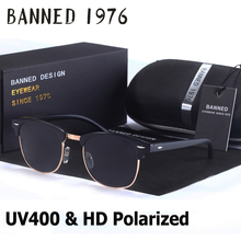 UV400 HD Polarized men women Sunglasses Classic fashion retro club Brand Sun glasses Coating Drive Shades gafas De Sol Masculino