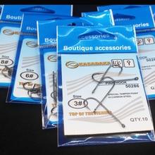 купить 10pcs/lot Brand  Size3-Size12 Fishing Hook Barbed Hook Carp Feeder Anzol Fishhook Jig Hook From Japan kosadaka недорого