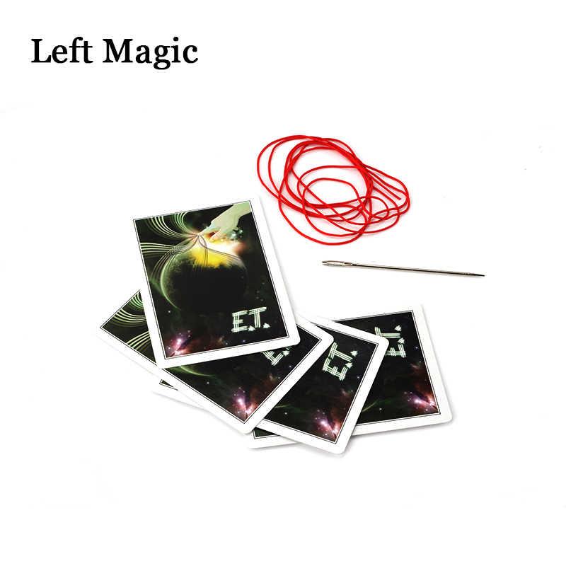 Иглы через Волшебные трюки колоды волшебные карты реквизит крупным планом иллюзии реквизит для фокусов комедии маг игрушки