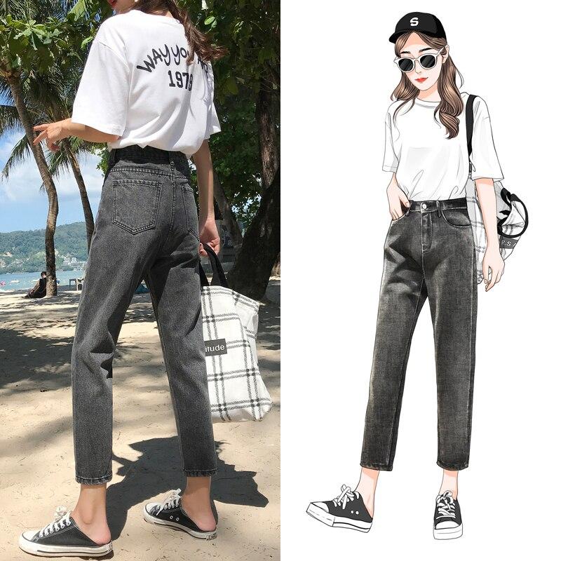 Boyfriends Straight Denim Pants Women   Jeans   Vintage Retro Loose Skinny   Jeans   Cool High Waist Black   Jeans   Ladies Plus Size Pants