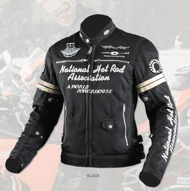 UglyBROS leather breathable mesh jacket racing Motorcycle protection jacket Road Riding Jacket Racing Jacket