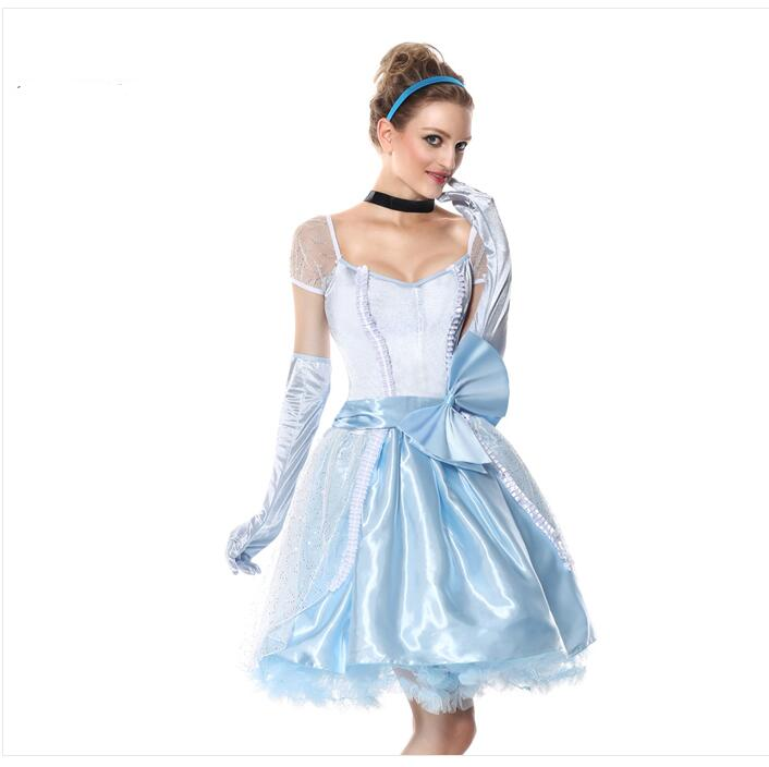 Original Princess Snow White Cinderella Dresses Costumes: Halloween Costume For Women Snow White Princess Cinderella
