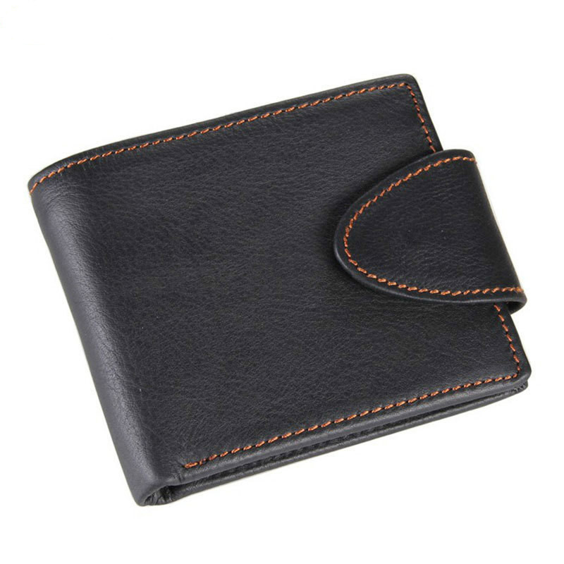 Natural Cowhide Short Men Wallet Genuine Leather Small Male Purse Card Holder Bifold Notecase With Coins Pocket  PR588060 vintage designer men genuine cowhide leather wallet male short coin purse card holder small wallet mini photo holder removeable