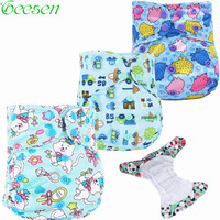 Baby Washable Reusable Cloth Pocket Nappy Double Gusset Diaper Cover Suits To Potty One Size Nappy