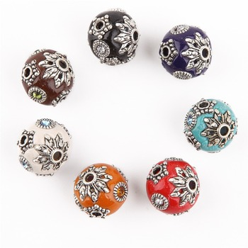 Handmade Indonesian Beads 12mm cooper alloy vintage