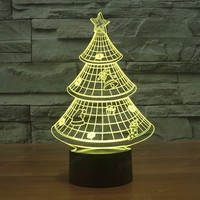 Christmas Tree 3D USB NightLights LED RGB Touch Desk Table Lamp Novelty Lamparas Xmas Gifts For