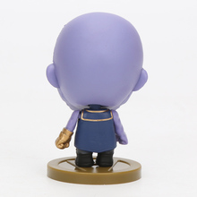 7cm anime Marvel the avengers Super Hero thanos Action Figures PVC Model Collectible Toy Action Figures Toys children gift