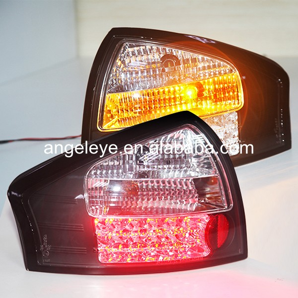 Tail Lights For Audi A6 LED Rear lamp 1999-2004 year Black Housing Clear Cover SN цена 2017