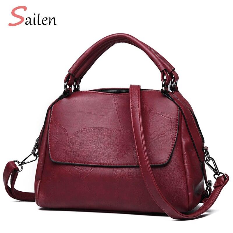 Women Bags Saitenautumn Messenger-Bag Crossbody-Bag Black Designer High-Quality Luxury