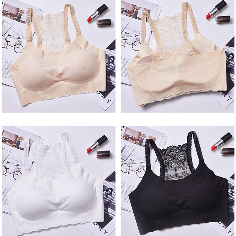 2019 Cropped Ladies Strapless Tops Printed Lace Ladies Inner Underwear Sexy Intimates Solid Black White Tube Top