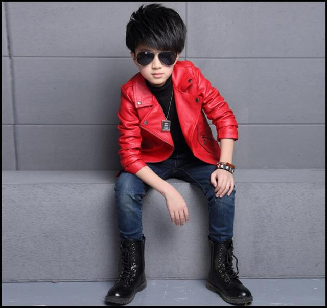 dc9a98e30 Baby Boys Leather Jacket Kids Girls And Coats Spring Kids Leather ...