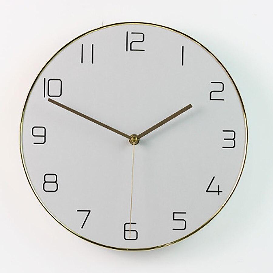 Minimalista Sala de estar relógio de Parede Relógio de Quartzo Relógio de Parede Única Casa De Madeira Casa Acessórios de Decoração Moderna Relógios Digitais Reloj - 5
