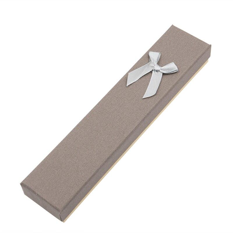 Jewelry Necklace Bracelet Box Gift Boite A Bijoux Caixa De Joias Paper Plain Finish 2 Color Bloacking Boxes For Women Jewellery