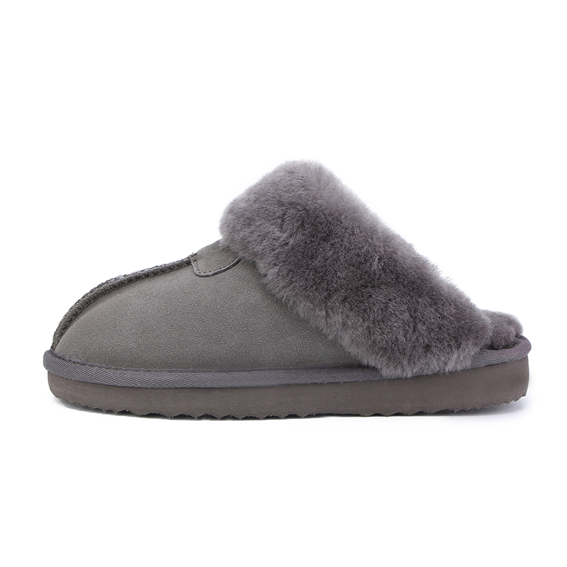 HABUCKN Natural Fur Slippers Fashion Female Winter  Slippers Women Warm Indoor Slippers Quality Soft Wool Lady Home Shoes 2