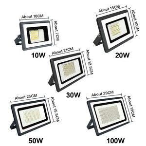 Image 2 - Foco LED para exterior Reflector, lámpara de pared, 220V, cuadrado, para jardín, 10W, 20W, 30W, 50W, 100W