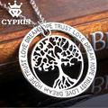 WHOLESALE Silver tree of life life tree pendant necklace totem religion the love apple tree women lady vintage trust hope