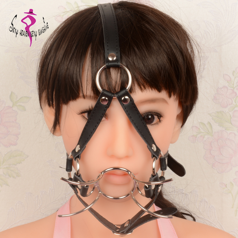 Sex Toys For Men Women Metal Spider O Ring Open Mouth Gag With Nose Hook Fetish -9499
