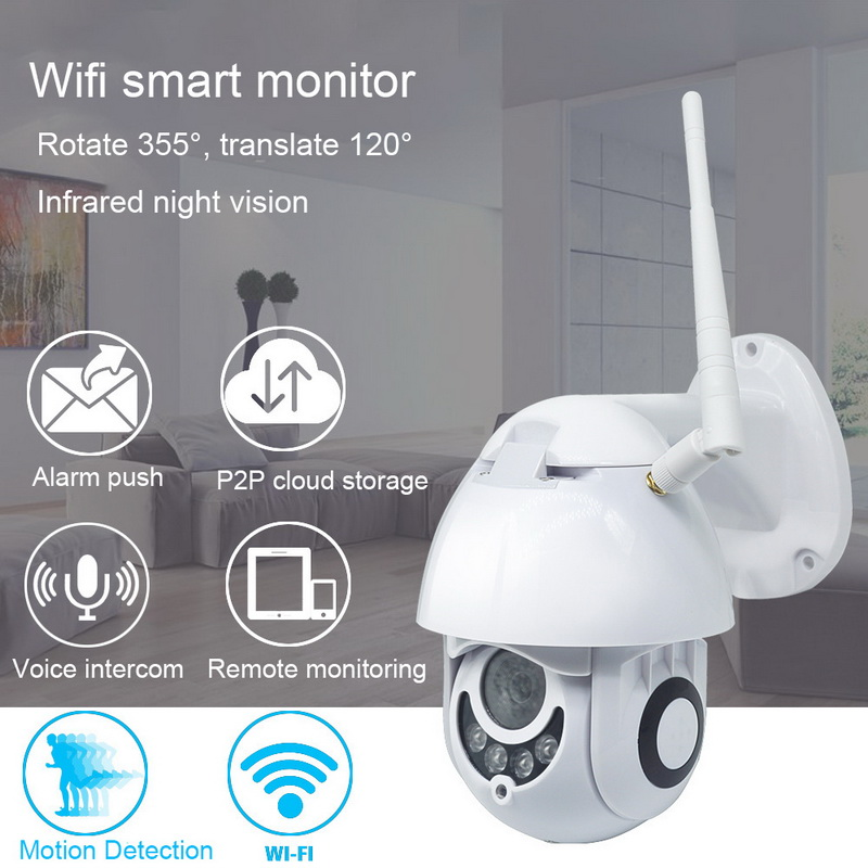 JUNEJOUR WIFI Camera 1080 IP Camera Wirless Security Camera With Night Vision Network CCTV Surveillance For Elder Baby Monitor in Surveillance Cameras from Security Protection