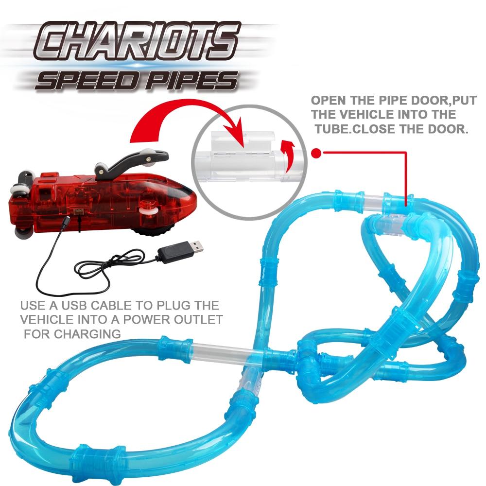 Magical Glow Racing Track Set Speed Pipes Juego de carreras de - Juguetes de construcción - foto 4