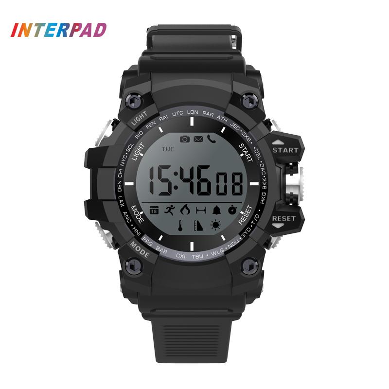 Prix pour Dernières IP68 Professionnel Étanche Hommes Sport Smart Watch Pour Windows IOS Android Téléphone Avec Podomètre Calories Smartwatch