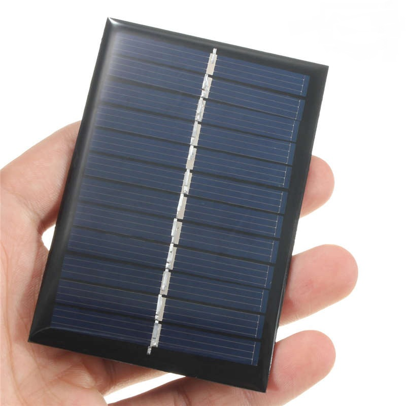 CLAITE 6V 0.6W 100mAh Polycrystalline Silicon Epoxy Solar Panels Module kits Mini Solar Cells For Small Power Appliances 90x60mm