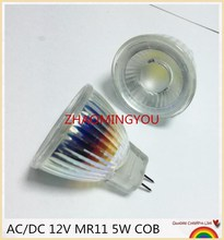 YON 10PCS Nieuwe Collectie MR11 110V 220V COB Led Spotlight Glazen Lichaam GU4 Lamp Licht AC/ DC 12V MR11 5W LED Lamp Warm Wit/wit