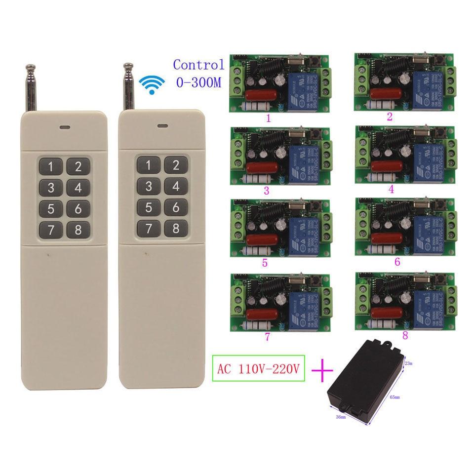 Dormeur 110 V 220 V sans fil interrupteur de lumière télécommande émetteur récepteur 110 V commutateur universel 300 M Contoller