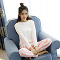 Nuevo de Las Mujeres de Seda de La Leche ropa de Noche Fija Pijamas Suaves Pijamas Mujeres Camisón de Moda Estilo Pijamas Pijama Femme