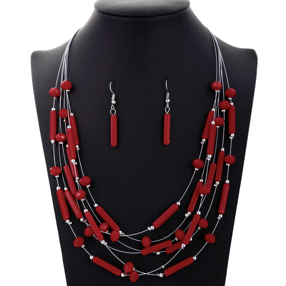 2019 Bridal Gift Nigerian Wedding Coral African Beads Jewelry Set Brand Woman Fashion Silver Plated Jewelry Set Wholesale