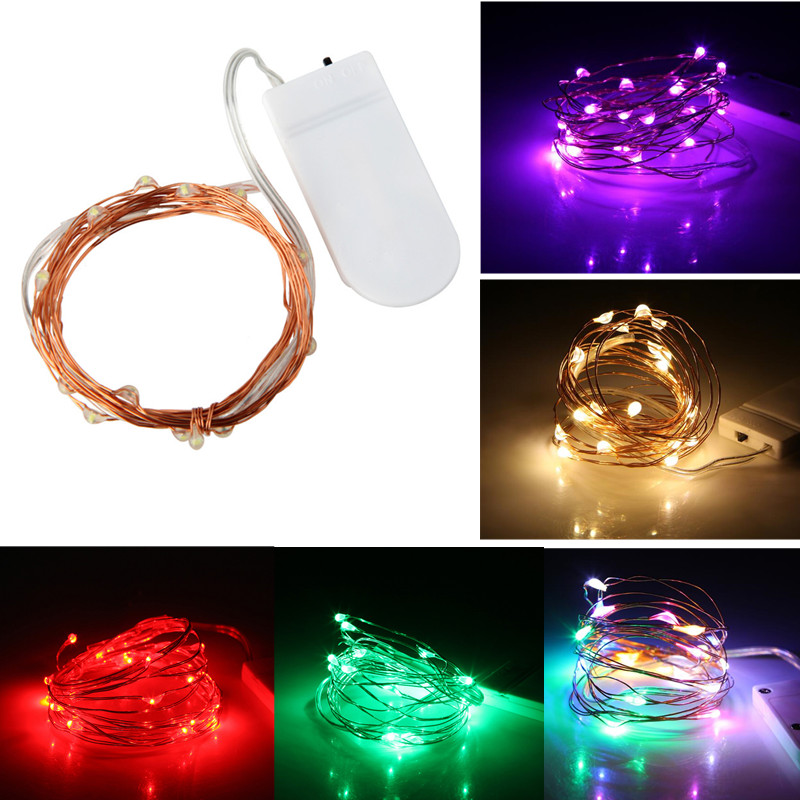 LED Fairy Light 10/50/100 LED String Light 1M/5M/10M Copper Wire Waterproof LED Strip Christmas Wedding Party Decoration Lamp