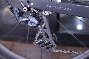 Image 4 - 17T 自転車セラミックベアリング炭素繊維ジョッキープーリーホイールセットリアディレイラーガイドホイールシマノ硬膜エース/ アルテグラ
