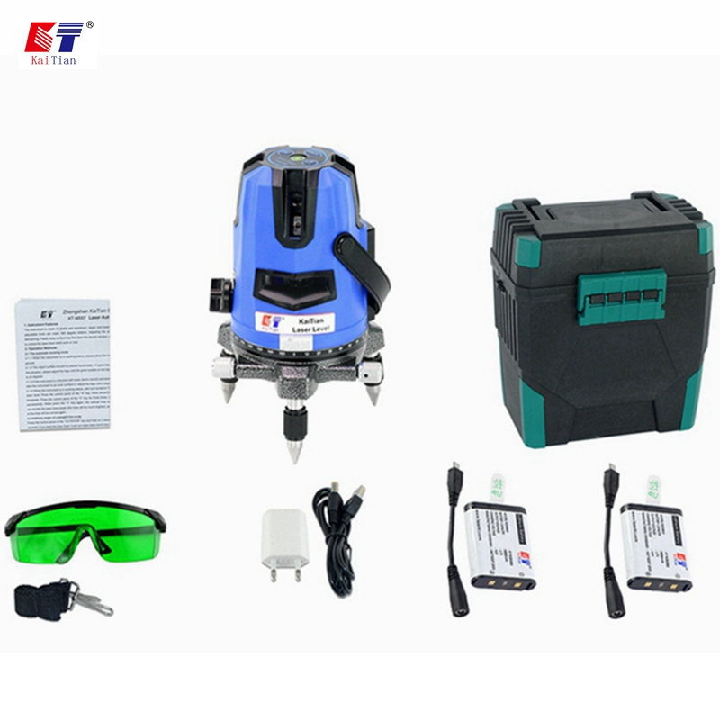 KaiTian 3 Lines Green Laser Levels Self-Leveling 360 Rotary Horizontal 532nm Vertical Livella Lasers Beam Line Lazer Level Tools kacy al04 laser level 2 line rotary 360 leveling 1v1h horizontal and vertical cross lazer levels lines excluding tripod