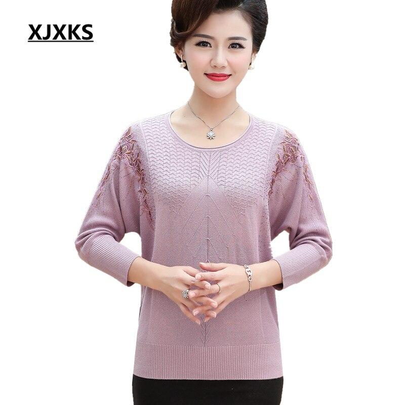 XJXKS Autumn winter 2019 new fashion bat sleeve women s sweater loose plus size high quality