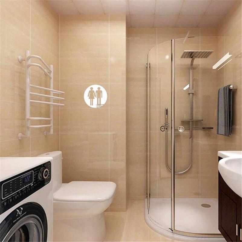 Aliexpress.com : Buy 3D Toilet Modern Acrylic Mirror Large ...