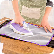 1pcs 40x60cm Protective Press Mesh Ironing Cloth Guard Protect Delicate Garment Clothes Ironing Board Cover Pad 2020 New(China)