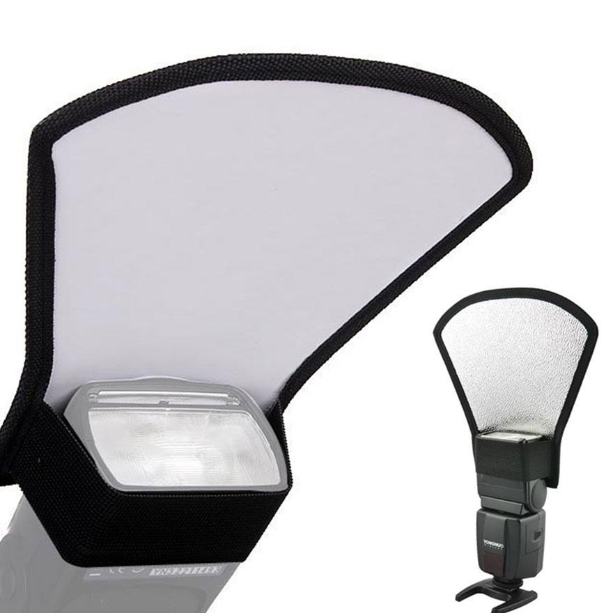 Universal Softbox Flash Bounce Reflector Diffuser Softbox Camera Accessories Silver White for Canon Nikon Camera Photo Studio