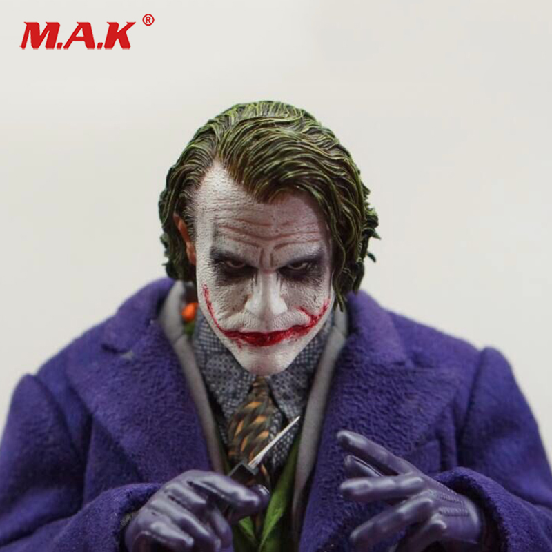 1:6 Male Head Sculpt The Joker Head Model PVC Head Carving for 12 Figure Doll Action Figure Accessory 1 6 figure doll head shape for 12 action figure doll accessories batman joker red hair head carved not include body clothes