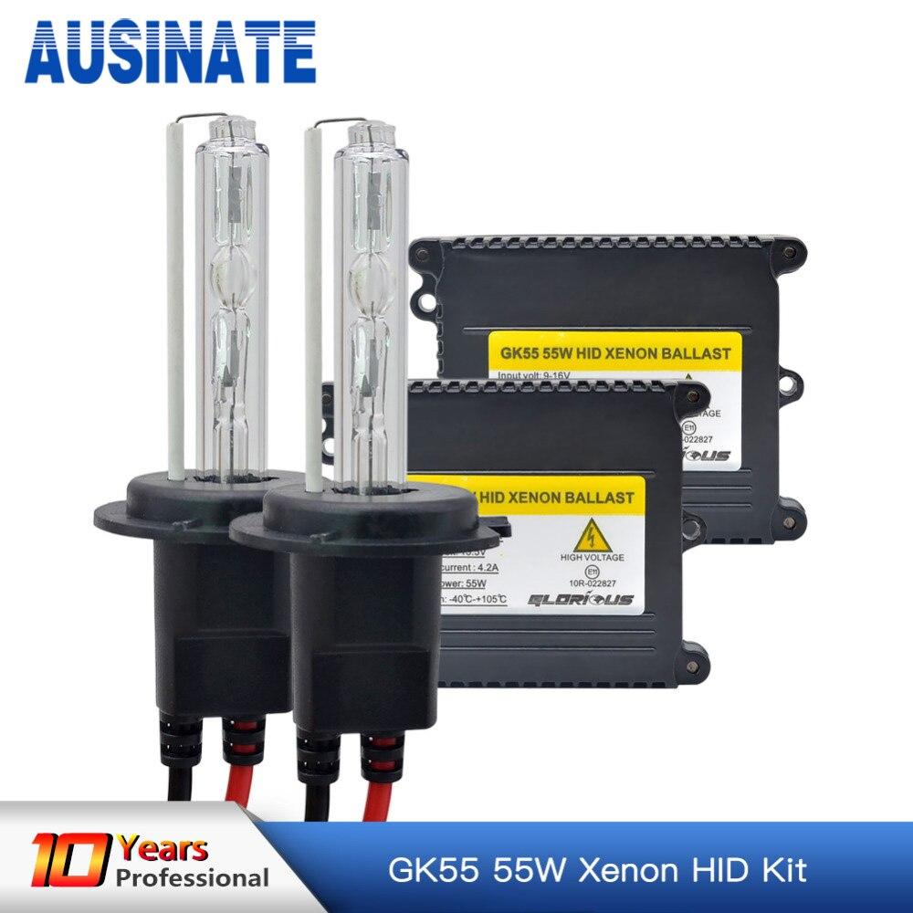 1 Set AC 55W H7 Xenon Lampa H1 H3 H4 H11 H8 H9 9005 9006 881 D2S HID - Avtomobil işıqları - Fotoqrafiya 1