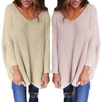Missufe 6 Colors Casua V Neck Female Pullovers Fashion Streetwear Sweater For Women Knitted Women Autumn