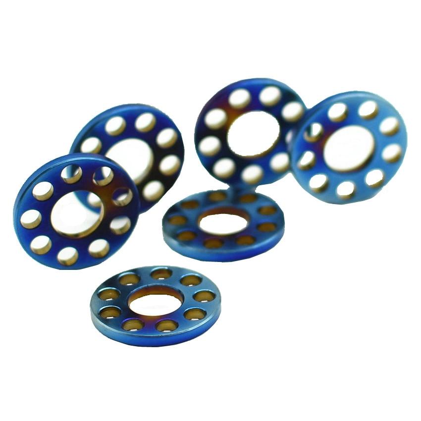Titanium Gasket Washer M6 M8 Ti Washers M6 M8 O Ring Hollow for Motorcycle Grade 5 Multicolor Ti Nut Ti Fastener 2/6/24pcs