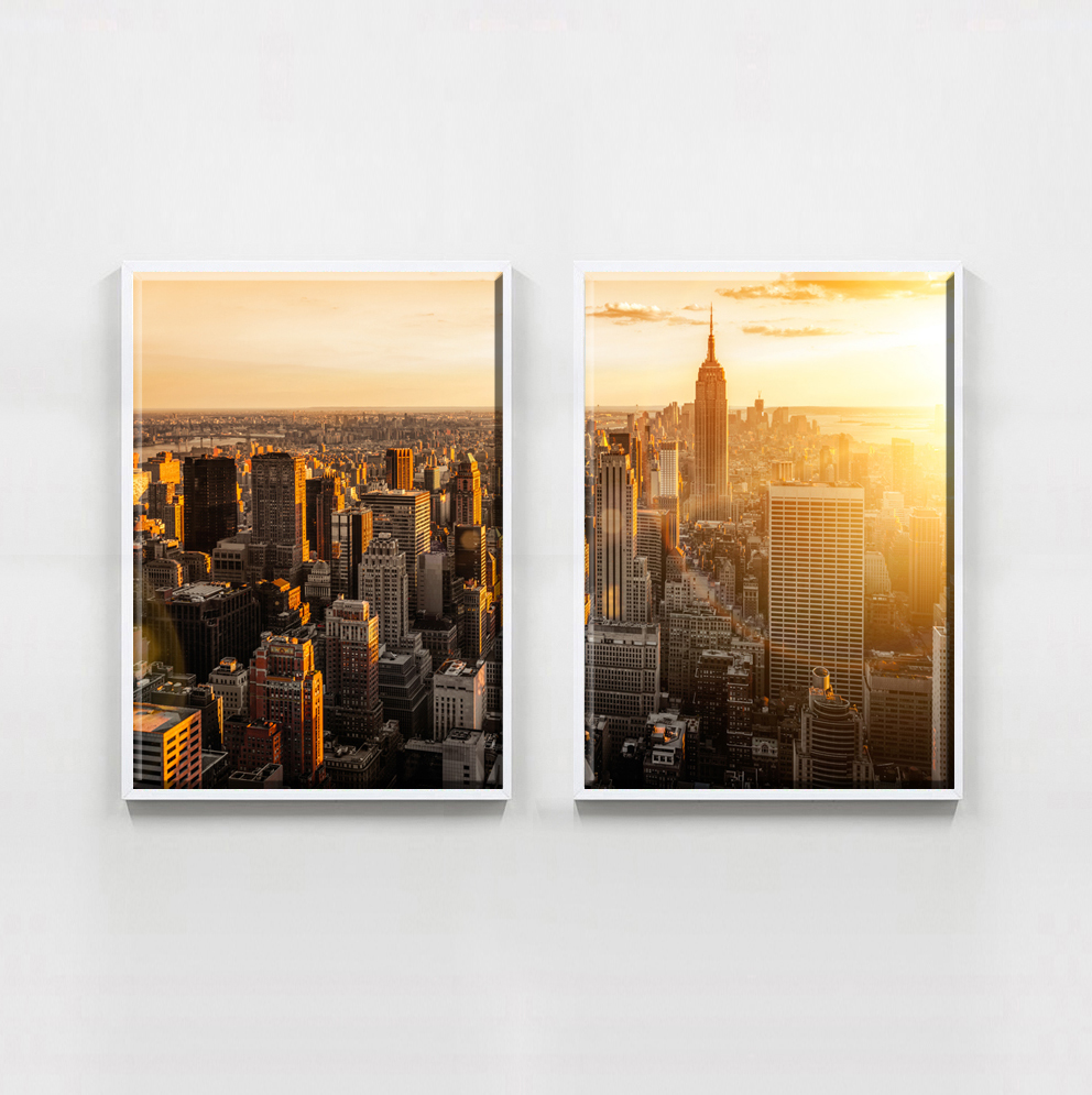 2 Piece Modern New York City Home Decoracion Modular Pictures Art On Canvas  Wall Painting On The Wall For Living Room In Painting U0026 Calligraphy From  Home ...