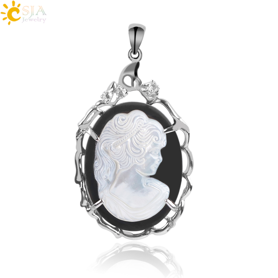 """18/"""" LONG A PRETTY GLASS FLOWER CAMEO OVAL  PENDANT NECKLACE NEW."""