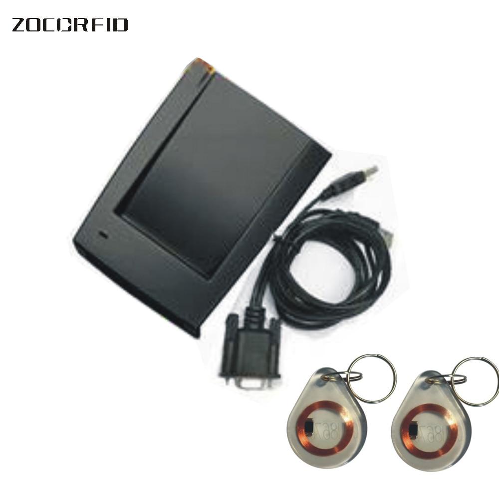 Մեծածախ RS232 ելքային ձևաչափով 125KHz EM4100 RFID հարևանությամբ ընթերցող / ID քարտի ընթերցող RS232 պրոտ / 9600 + 5 հիմնական թեգեր