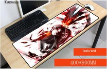 Yuzuoan Tokyo Ghoul Anime 80x30 pad to mouse Computer Large Lock Edge Mouse pad Gaming padmouse gamer to laptop large Table Mat tecknet gaming office mouse pad mat ergonomic mousepad build in soft sponge with gel rest wrist support